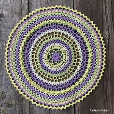 Size: approximately 53 cm after blocking Mandala Pattern, Easter Holidays, Crochet Doilies, Double Crochet, Color Combos, Different Colors, Colours, How To Make, Ravelry