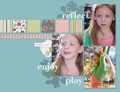 Digi layout...love the postage squares with all the Stampin' Up patterned papers!