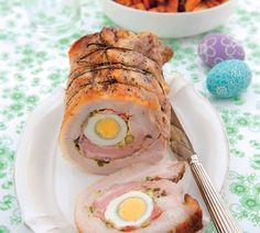 Bravčová roláda s vaječnou plnkou Eat Smarter, Sushi, Food And Drink, Eggs, Breakfast, Ethnic Recipes, Pistachios, Eat Lunch, Meat
