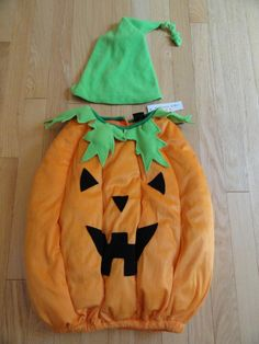 AUTHENTIC KIDS PLUSH HALLOWEEN PUMPKIN COSTUME BOYS GIRLS TODDLER 2 2T 3 3T | eBay