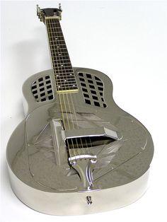 Image Detail for - Tricone Square Neck Silver Metal Resonator Guitar Dobro | Dobro Guitar