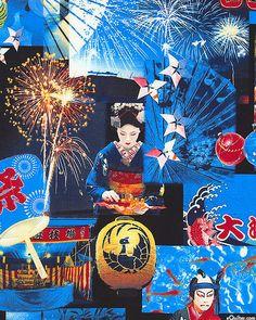 Japanese Import - Traditional Celebration - Midnight Blue