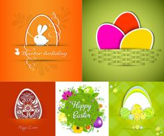 Easter Bunny With Eggs Template Vector We Have Over