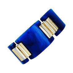 Trifari Gilt Lucite Link Bracelet ca.1970 | 1stdibs.com