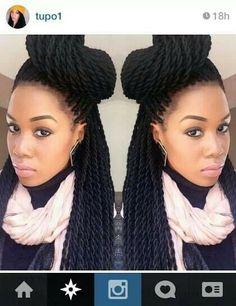 Senegalese braids