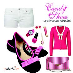 ¡Rosado a la moda! www.tucalzado.com #Rosado #Combinaciones #Zapatillas #Zapatos #Sobre