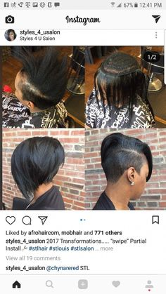 23 Hottest Short Weave Hairstyles in 2019 - Style My Hairs Shaved Side Hairstyles, African Braids Hairstyles, Cute Hairstyles For Short Hair, Braided Hairstyles, Curly Hair Styles, Natural Hair Styles, Black Hairstyles, African Hair Braiding, Bob Hairstyles