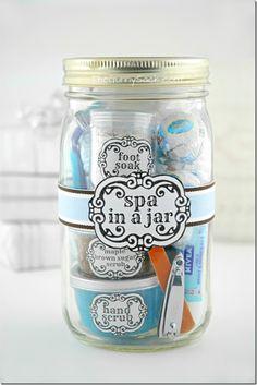 Spa in A Mason Jar | Mason Jar Crafts Love