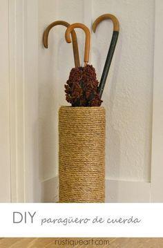 DIY Un paragüero con cuerda | Decorar tu casa es facilisimo.com
