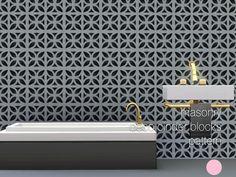 DOT's Grey Deco Cinder Blocks Pattern