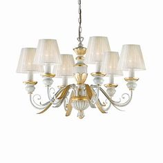 IDEAL LUX 052663 PENDANT LIGHT FITTING FLORA SP6 |