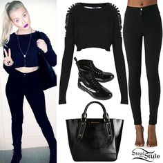 Perrie Edwards: Easy Jean, Crop Sweater | Steal Her Style