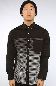 The Scaled Buttondown Shirt in Black by Crooks and Castles