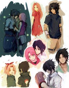 Find images and videos about naruto, sakura and sasuke on We Heart It - the app to get lost in what you love. Naruto Uzumaki, Tenten Y Neji, Sasuke Uchiha Sakura Haruno, Sasusaku Doujinshi, Narusaku, Shikamaru, Sakura And Sasuke, Sad Anime Couples, Anime Couples Drawings