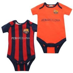 Barcelona 2 Pack Bodysuit FC Barcelona Official Merchandise Available at www.itsmatchday.com