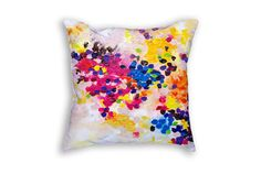 Pastel pillow cover - Cushion case - Abstract art pillow cover - Dots painting - Colorful decorative pillows - Fine art print cushion cover 18x18