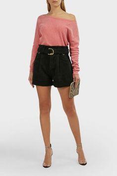 Wildfox Tilda Ribbed Cotton Blend Crop Sweatshirt In Pink Neck Piece, Wildfox, World Of Fashion, Joggers, Jumper, Short Dresses, Sweatshirts, Model, Cotton