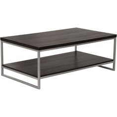 Lily and Lee Furniture Empire Coffee Table in Dark Brown/Silver Dark Wood Coffee Table, Coffee Table Rectangle, Coffe Table, Marble Console Table, Narrow Console Table, Wood And Metal, Silver Metal, Nebraska Furniture Mart, Furniture Sale
