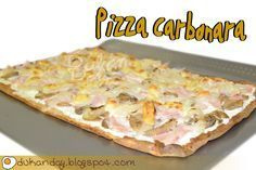 Dukan Day: Pizza Carbonara Empanada, Cooking Recipes, Healthy Recipes, Healthy Food, Hawaiian Pizza, Paleo Diet, I Foods, Pasta, Nutrition