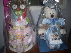 Owl Diaper Cake & Trike :) Tricycle diaper cake