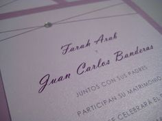 Plum Bilingual Wedding Invitations - Paper goods by Le Petit Papier - www.lepetitpapierbymonica.com