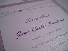 Plum Bilingual Wedding Invitations - Paper goods by Le Petit Papier - www.lepetitpapierbymonica.com