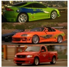 Brian's cars in The Fast and the Furious movie