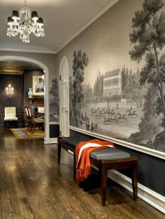 GRISAILLE, DE GOURNAY, AND LARGE LANDSCAPE WALL MURALS