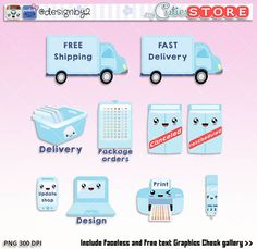 delivery happy mail clipart stickers