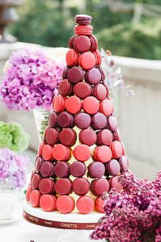 French-macron cake @weddingchicks