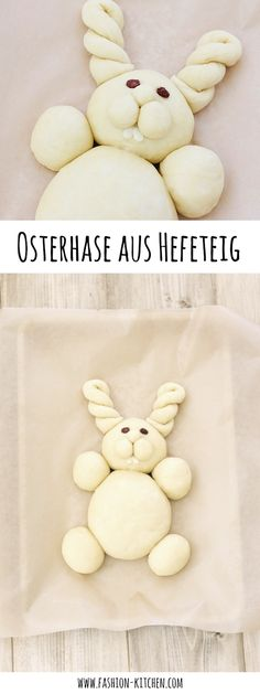 sweet Easter bunny made from yeast dough - Ostern - Yummy Food Spice Cupcakes, Pumpkin Cupcakes, Taco Salad Recipes, Smoothie Recipes, Cute Easter Bunny, Happy Easter, Southwest Salad Recipe, Easter Festival, Easter Printables