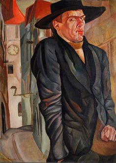 Boris Grigoriev (1886-1939, Russian), 1916, Self-portrait, 95 х 69, Tretyakov Gallery,  Moscow.