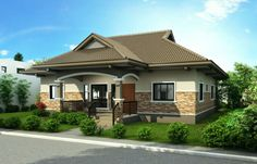 Bungalow house design philippines small bungalow house plans in the modern bungalow house design philippines 2017 . Bungalow Style House, Modern Bungalow House Design, Bamboo House Design, Simple House Design, Bungalow House Plans, House Front Design, Modern House Plans, Small Bungalow, Roof Design