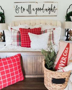Ummmmm... so this happened today on the blog! I teamed up with some of my best blogging friends to bring you our Christmas bedrooms with @birchlane. Head to the blog to see more & see what I used to bring the Christmas spirit to our room: lizmarieblog.com - link in my profile. I can't wait for you guys to go & check it out! Let me know what you think! Ps. Isn't that sign above our bed that @featherandbirch made bomb?!?  #whitecottagefarm #farmhouseholidayseries