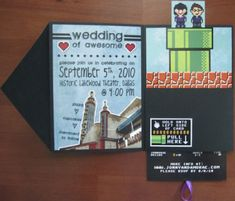 Nerdy Wedding Invitations def gotta do this but in star wars.........he seems to have an obsession...............lol