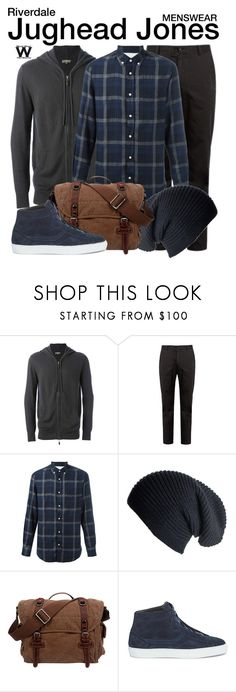 """Riverdale"" by wearwhatyouwatch ❤ liked on Polyvore featuring N.Peal, Acne Studios, Officine Générale, Black, TSD, Rebecca Minkoff, men's fashion, menswear, television and wearwhatyouwatch"