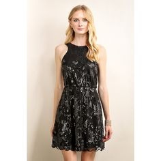 Large sequin flower lace dress (7105 RSD) ❤ liked on Polyvore featuring dresses, sequin cocktail dresses, lace dress, flower lace dress, flower dress and lacy dress
