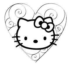 HELLO KITTY COLORING: HELLO KITTY COLOURING