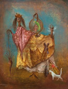 1949 THE ARTIST TRAVELING INCOGNITO, Leonora Carrington (1917~2011, English-born Mexican artist, surrealist painter, and novelist)