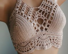 Dreamcatcher Halter Crochet top