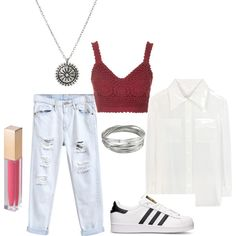 britt robertson by paluna on Polyvore featuring moda, Chloé, Topshop, adidas, Whistles and MAKE UP STORE