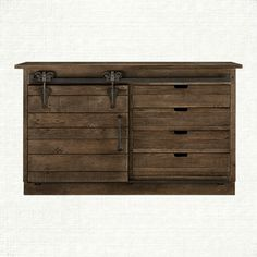 """Higgins 74"""" Sideboard in Ashland Brown. Really cool tv console!"""