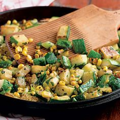 Zucchini-And-Corn Sauté | MyRecipes.com #myplate #vegetable