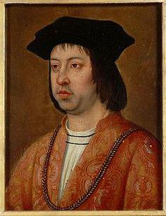Fernando II el Católico (1452-1516),reydeAragón (1479-1516) y, con el nombre de FernandoV, rey consorte de Castilla (1474-1516); esposo de la reina Isabel I de Castilla, por cuyo reinado conju...