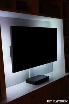 With our new built-ins in place, we decided to jazz up our television. Here's how we added LED lights on our flat screen TV