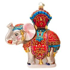Christopher Radko Bombay Dreams Elephant Glass Christmas Ornament