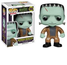 The Munsters - Herman Munster Pop! The Munsters are back with these awesome Pop! Collect all of the key members of the beloved spooky family from the 1964 television program. Herman Munster, The Munsters, Munsters Grandpa, Pop Vinyl Figures, Funko Pop Figures, Lily Munster, Mary Shelley, Toy Art, Hades