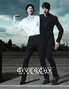 """Givenchy's Creative Director Riccardo Tisci taps Jarrod Scott, Rodrigo Braga and Simone Nobili for the french house's latest campaign. """"The Givenchy gang"""" was shot by Mert Alas and Marcus Piggott and styled by Carine Roitfeld. Stella Tennant, High Fashion Men, Fashion Art, Editorial Fashion, Mens Fashion, Male Editorial, Fashion Beauty, Brand Campaign, Campaign Fashion"""