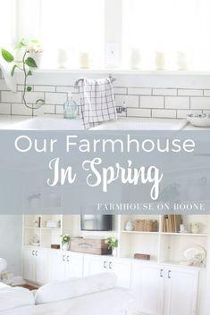 our farmhouse in spring - Farmhouse on Boone - Home Design Inspiration