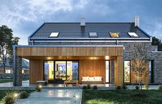 Projekt domu Rumba 130,27 m2 - koszt budowy 192 tys. zł - EXTRADOM Beautiful House Plans, Bungalow Renovation, Barn House Plans, A Frame House, Facade House, House Goals, Cottage Homes, Modern House Design, Home Fashion